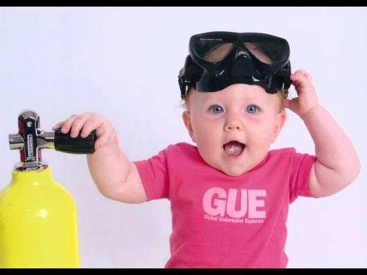 GUE Baby Scuba Diver