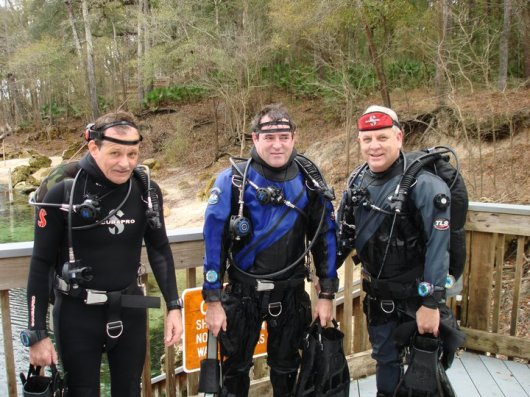 Perry & Howard & Ken Scuba Diving at Troy