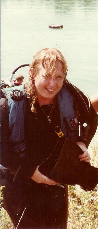 Rhonda years ago open water class in Quarry by Russellville in Indiana -1986